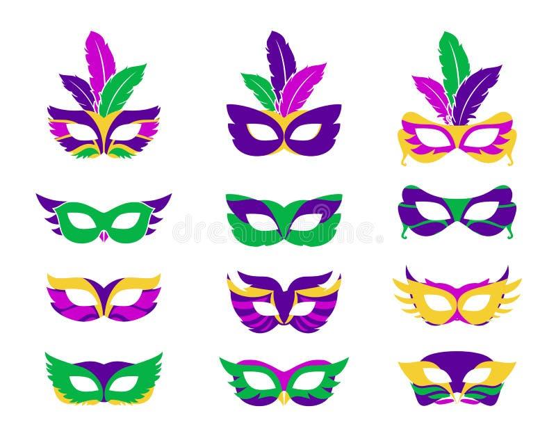 狂欢节面具 皇族释放例证
