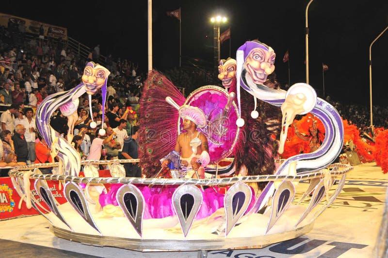 狂欢节gualeguaychu 库存照片