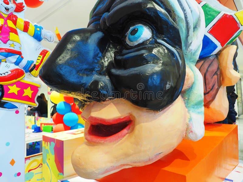 狂欢节Pulcinella面具那不勒斯的字符 库存图片