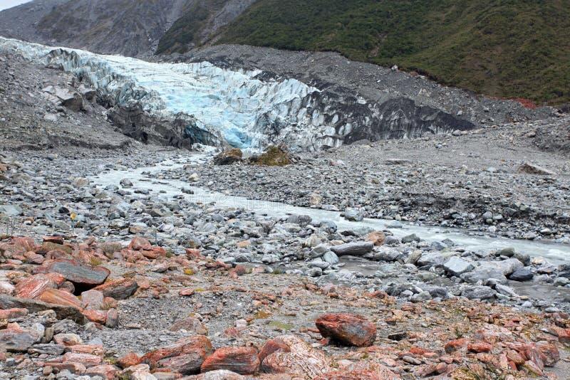 狐狸冰川新西兰 免版税库存图片