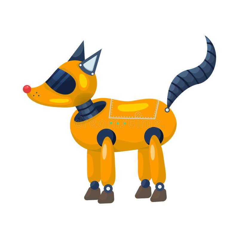狐狸和动物商标被隔绝的对象  设置狐狸和狂放的储蓄传染媒介例证 向量例证