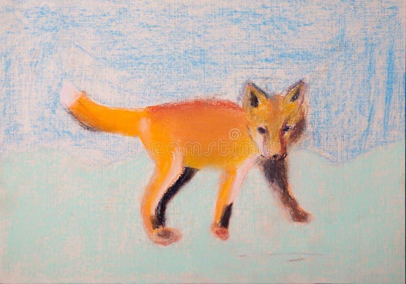 狐狸的儿童图片 库存例证