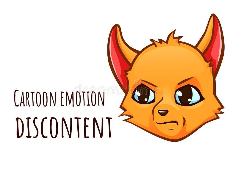 狐狸的动画片情感-牢骚 皇族释放例证