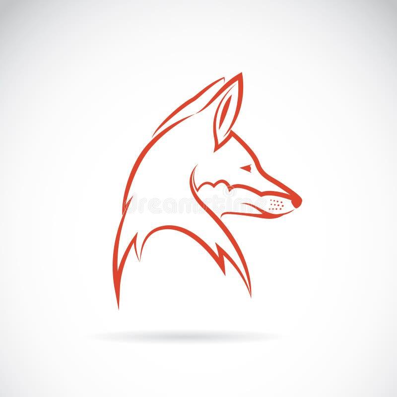 狐狸的向量图象 库存例证