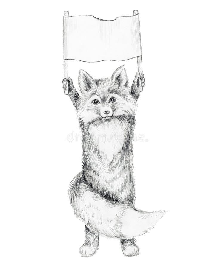 狐狸 手拉的图表图片 皇族释放例证