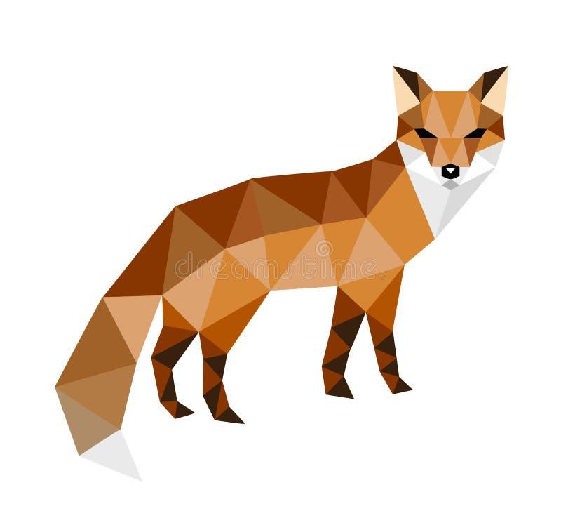 狐狸色中国片_在白色背景隔绝的多角形五颜六色的狐狸 id.