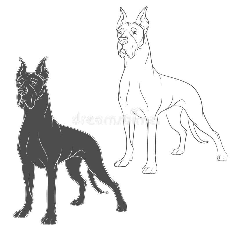 狗传染媒介图画  在一个空白背景的对象 皇族释放例证