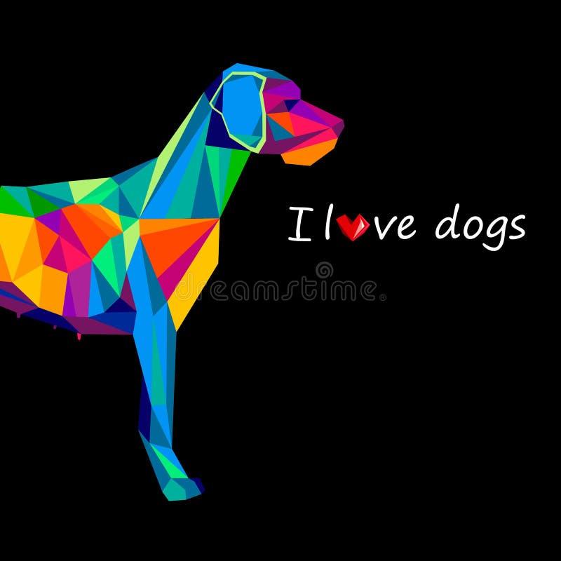 狗动物小狗宠物向量图形 皇族释放例证