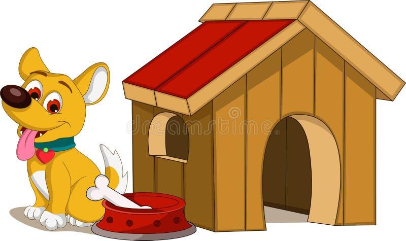 狗动画片和房子 皇族释放例证