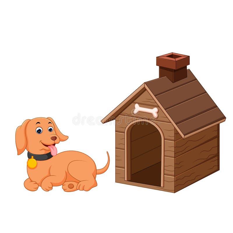 狗和爱犬房子 向量例证