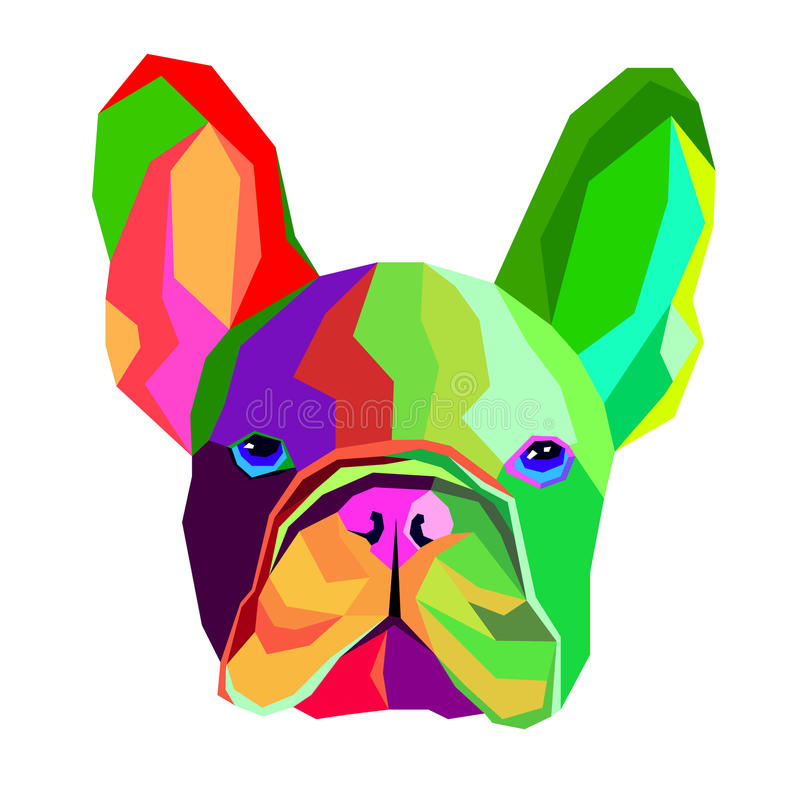 狗品种逗人喜爱的宠物牛头犬法语 向量例证