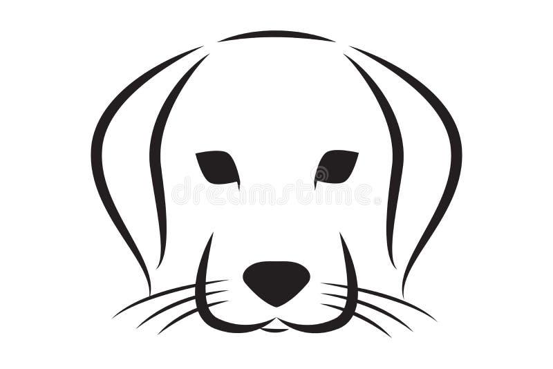 狗头被排行的传染媒介剪影  向量例证