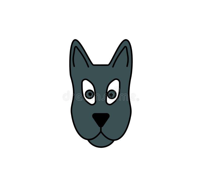 狗头象 宠物标志 被隔绝的小狗面孔 向量例证