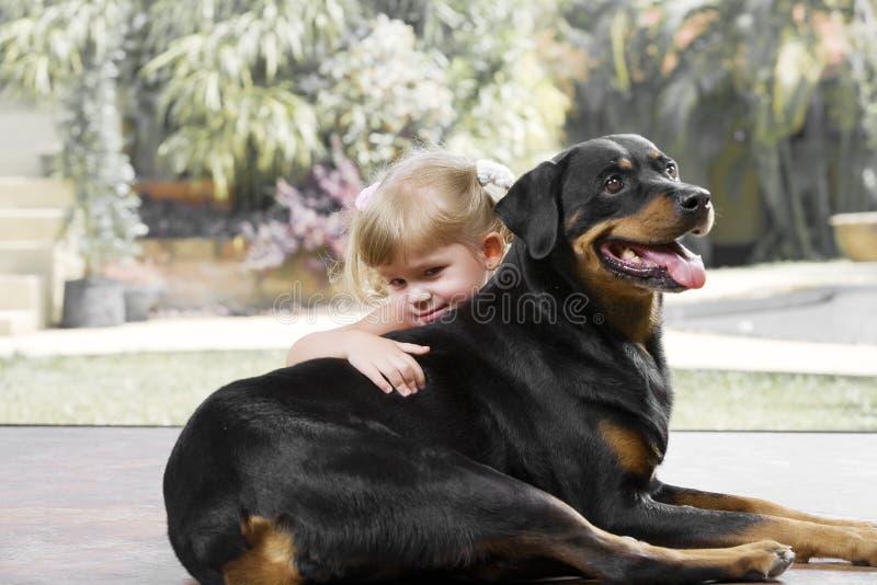狗女孩 库存照片