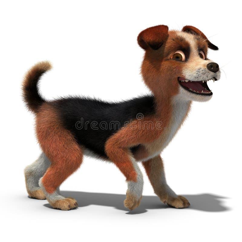 狗微笑着 免版税库存照片