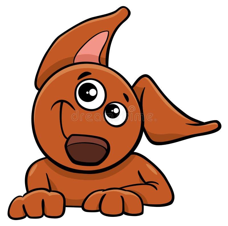 狗或小狗漫画人物 向量例证 图片 包括有 宠物 愉快 例证 艺术 动画片 快乐 滑稽 小狗