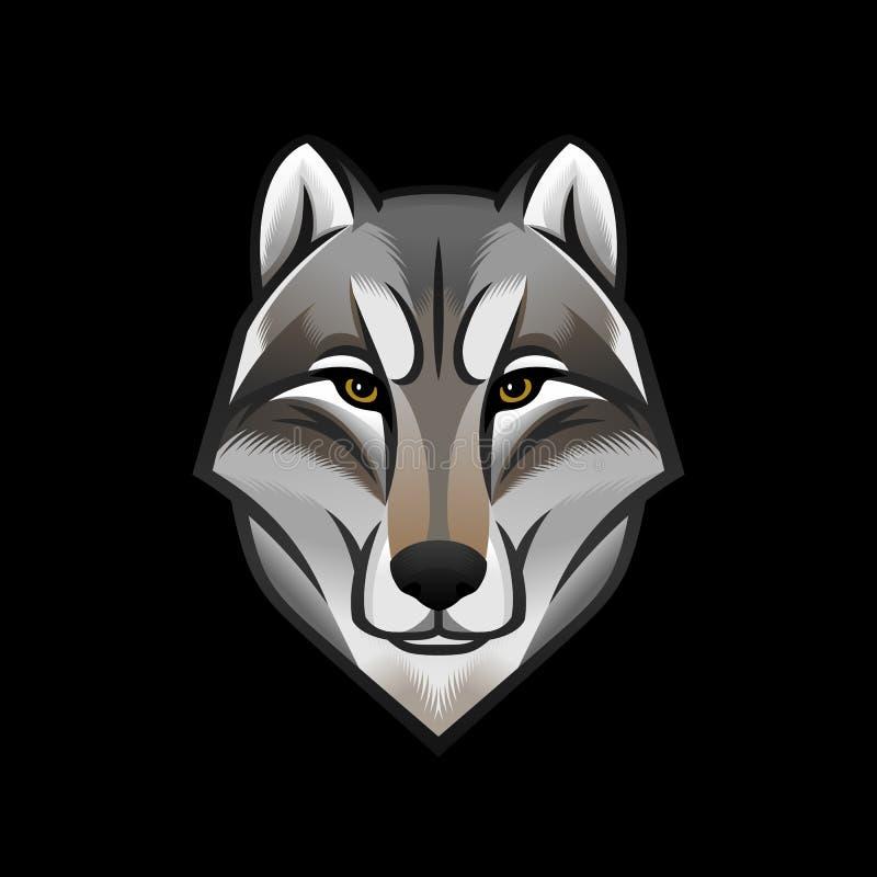狗或狼顶头商标或者象 五颜六色的象征 设计例证股票您使用的向量 皇族释放例证