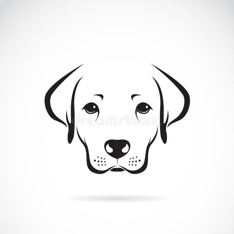 狗拉布拉多的传染媒介图象 向量例证