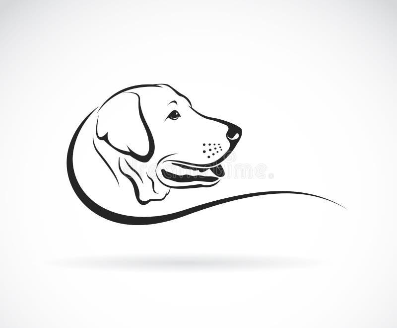 狗拉布拉多头的传染媒介图象 库存例证