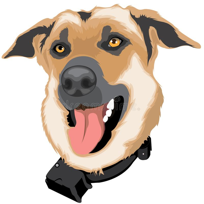 狗棕色宠物 库存例证