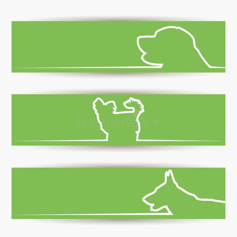 狗横幅 向量例证