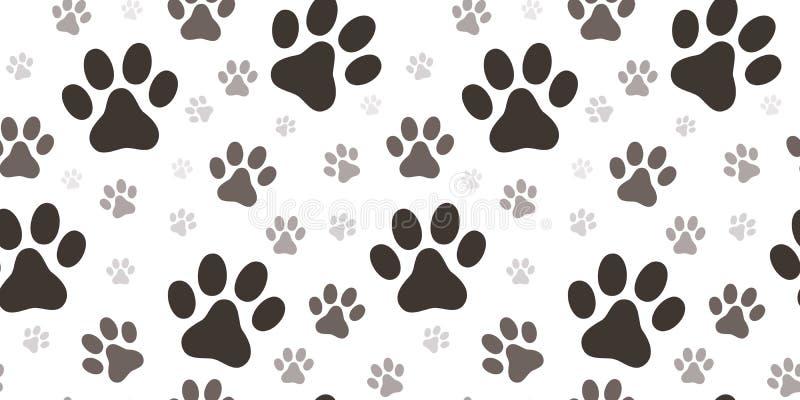 狗爪子印刷品无缝的样式 向量例证