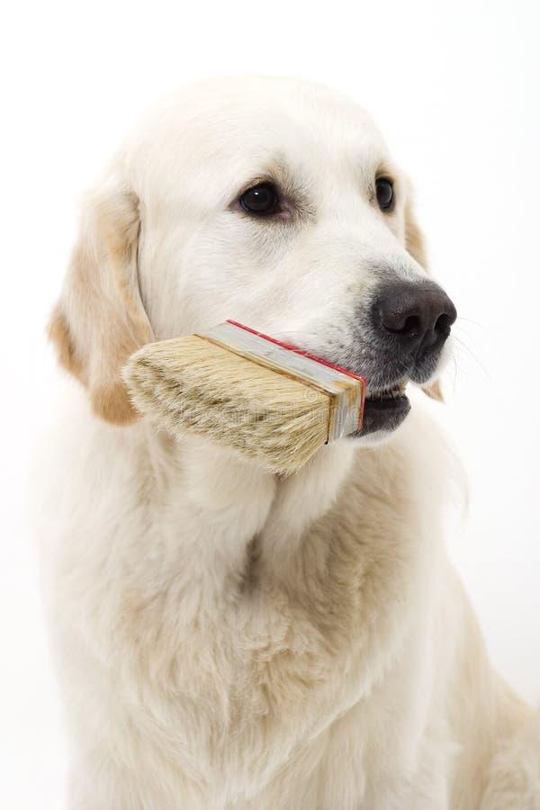 狗绘画 免版税库存图片