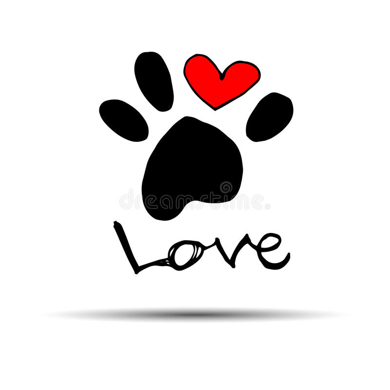 狗脚印印刷品爪子脚形状例证宠物图片