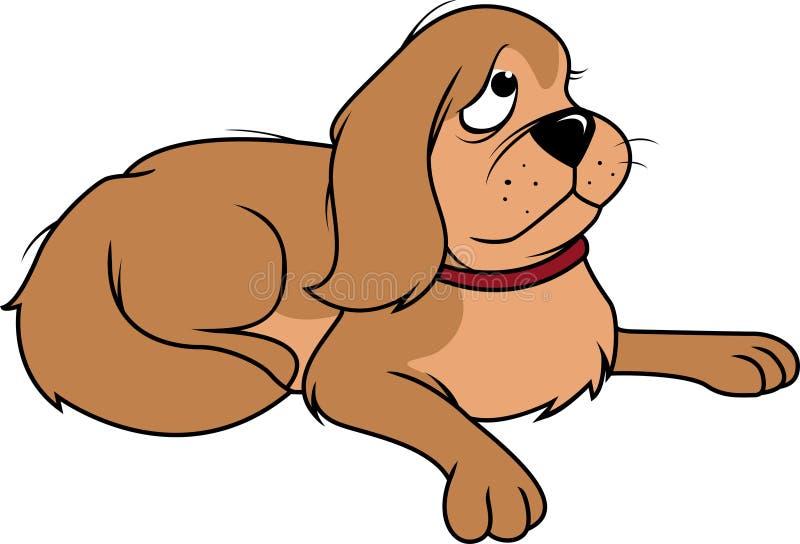狗蓬松哀伤 向量例证