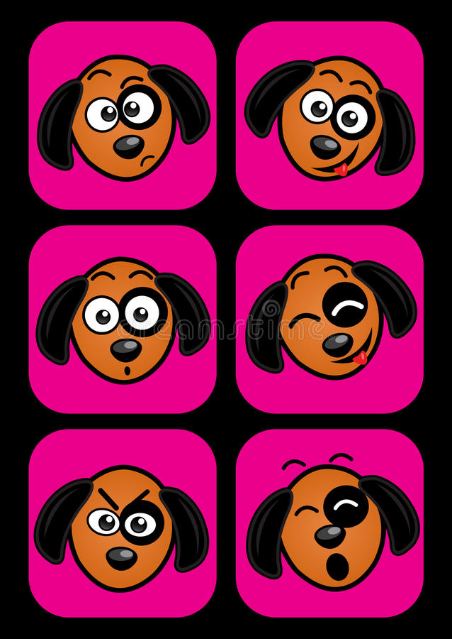 狗表情 库存例证