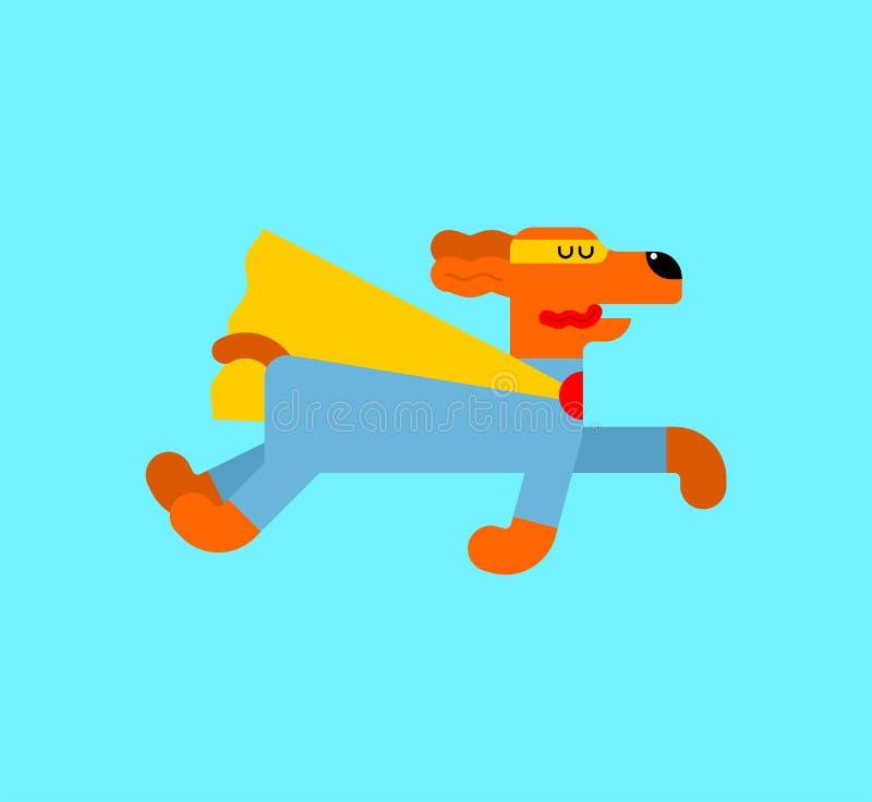 狗超级英雄 在雨衣和面具的超级宠物 超级大国追逐 动画片样式传染媒介 皇族释放例证