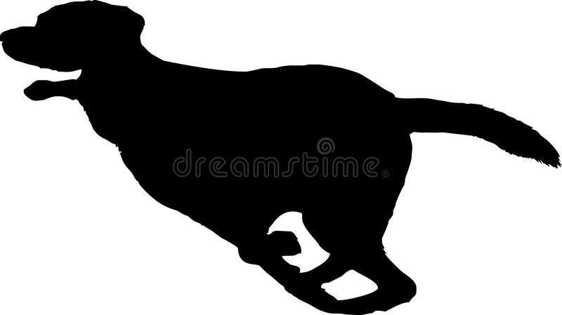 狗连续剪影 向量例证