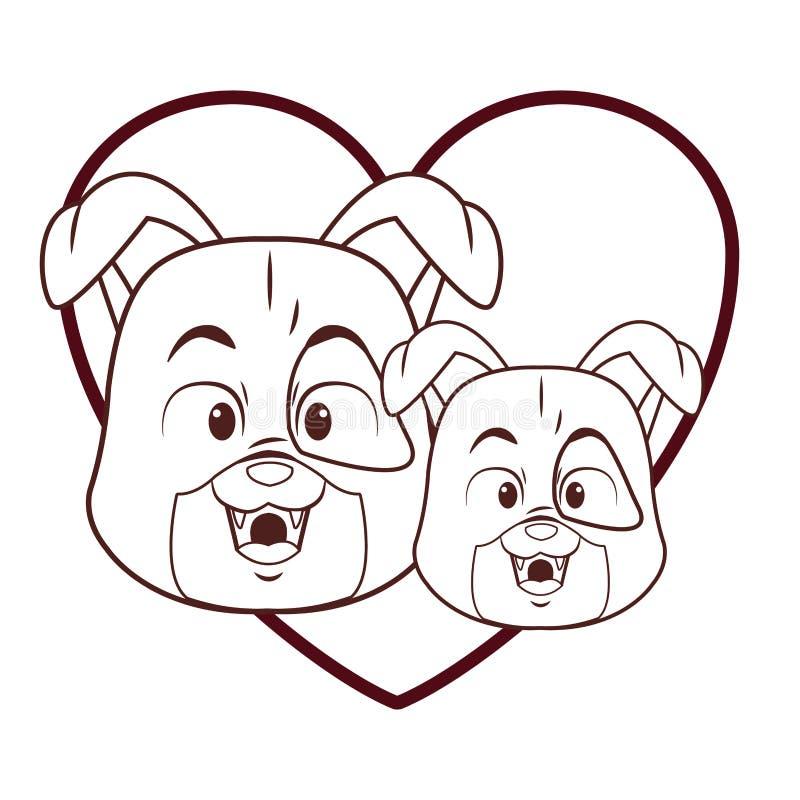 狗逗人喜爱的动画片 库存例证