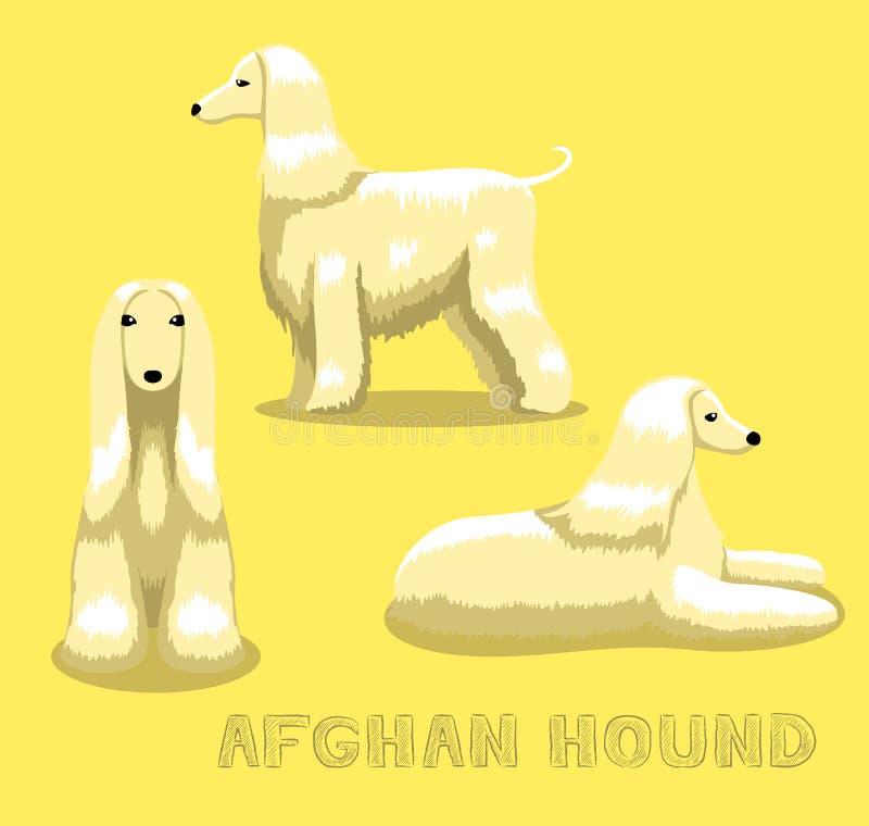 狗阿富汗猎犬动画片传染媒介例证 库存例证