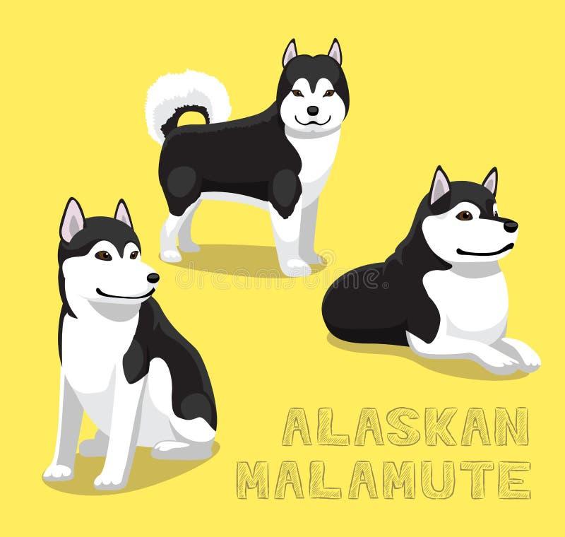 狗阿拉斯加的爱斯基摩狗动画片传染媒介例证 向量例证