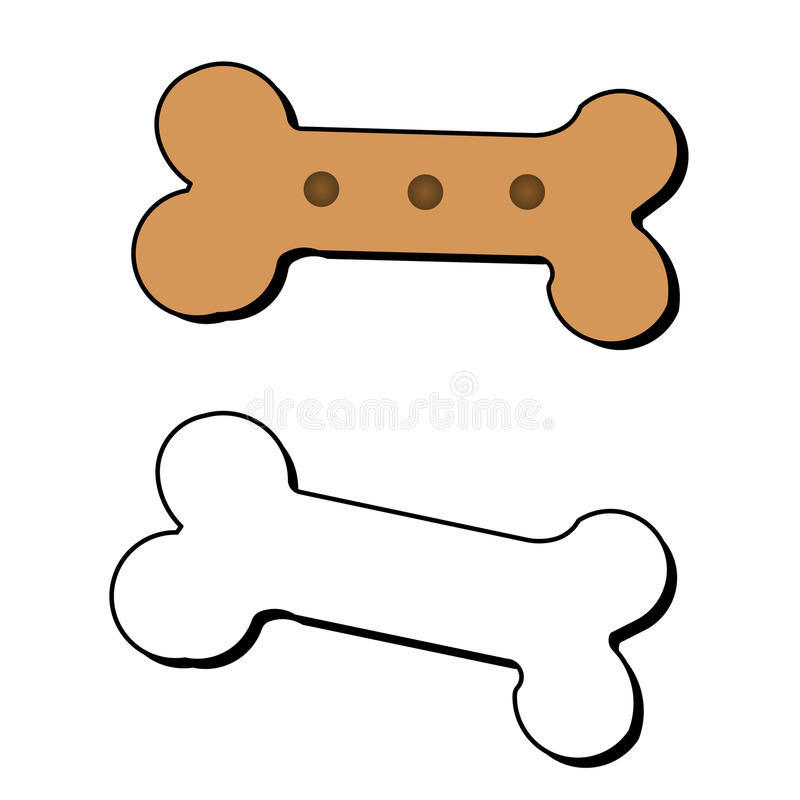狗骨头向量 向量例证