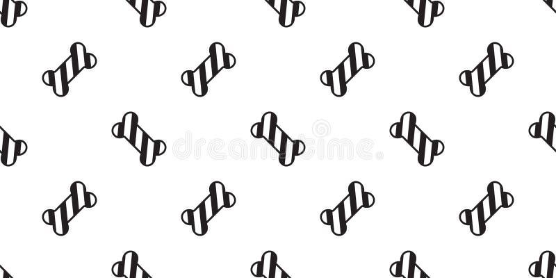 狗骨头无缝的样式传染媒介圣诞节圣诞老人项目Xmas棒棒糖狗爪子法国牛头犬围巾被隔绝的重复墙纸illu 皇族释放例证