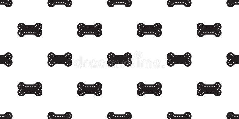 狗骨头无缝的样式传染媒介宠物爪子脚印法国牛头犬动画片围巾被隔绝的重复墙纸例证瓦片backgr 向量例证