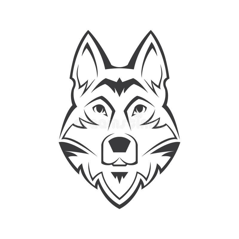 狗头标志 皇族释放例证