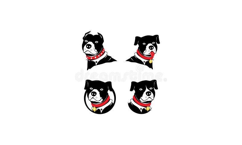 狗pitbull商标传染媒介 向量例证