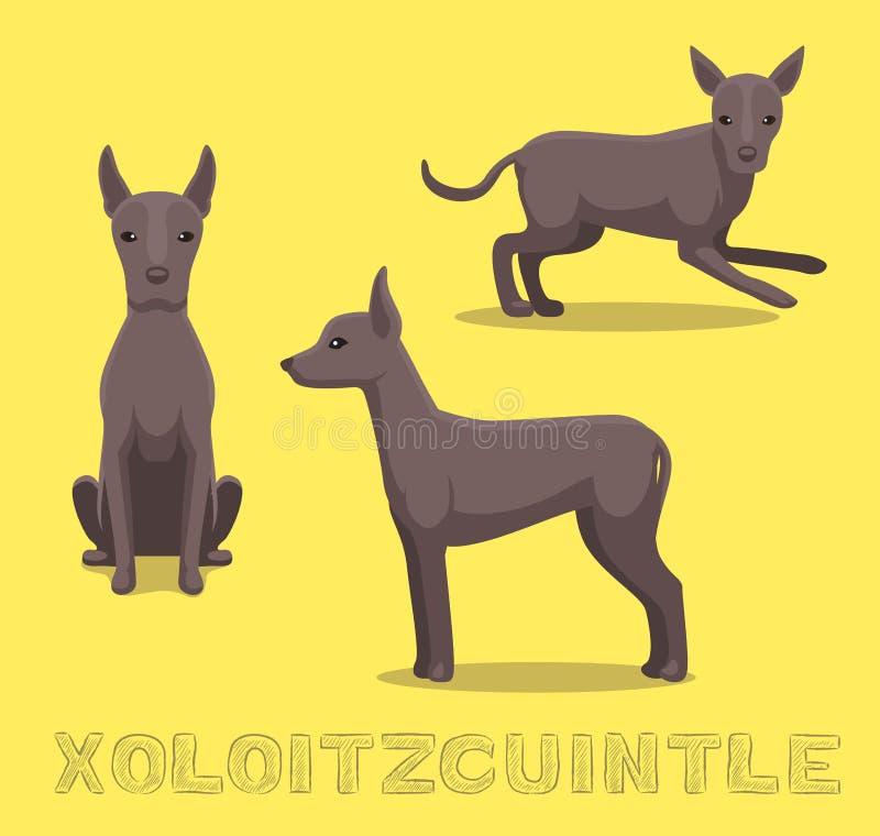 狗Xoloitzcuintle动画片传染媒介例证 皇族释放例证