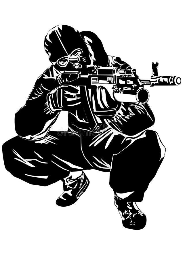 狙击手 库存例证