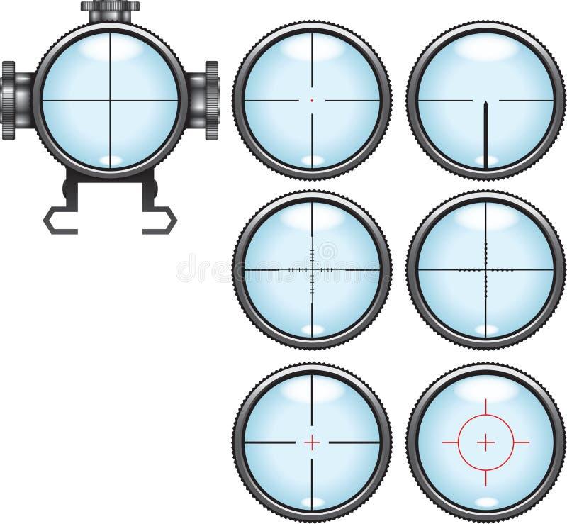 狙击手范围集合 向量例证