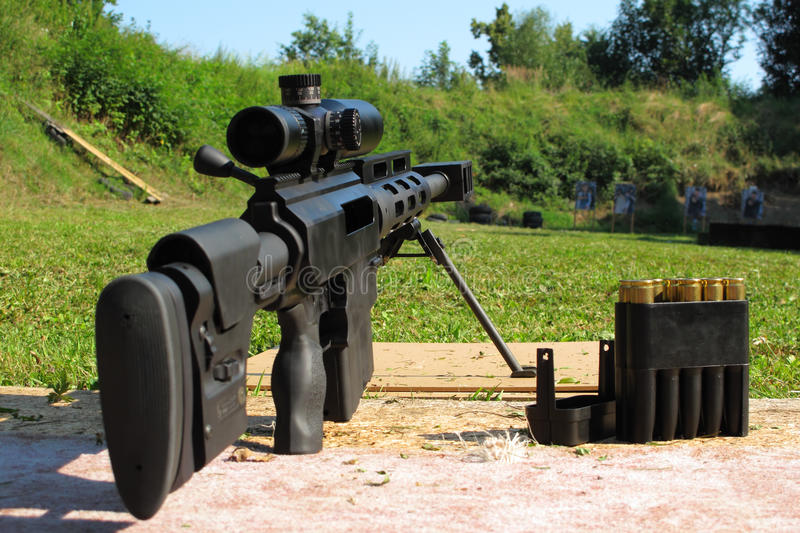 狙击步枪口径 50个BMG 免版税库存图片