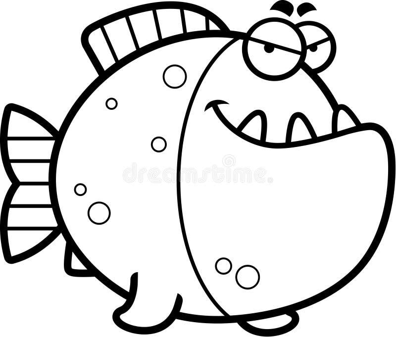 狡猾的动画片比拉鱼 库存例证