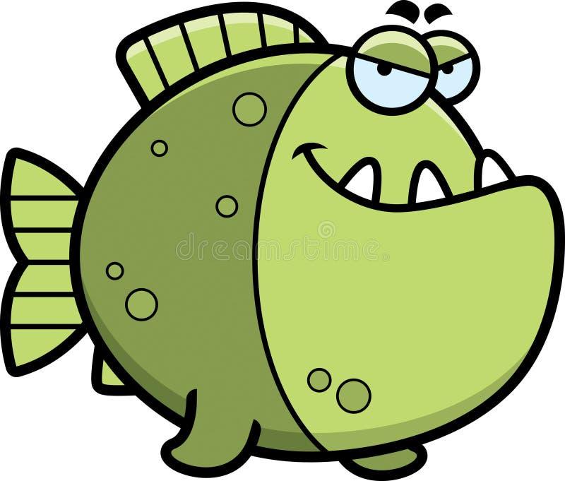 狡猾的动画片比拉鱼 向量例证