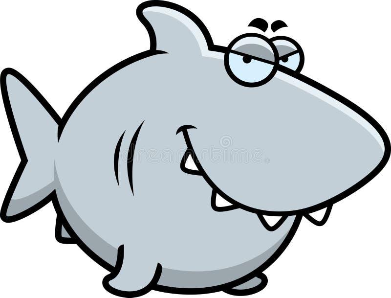狡猾的动画片鲨鱼 向量例证