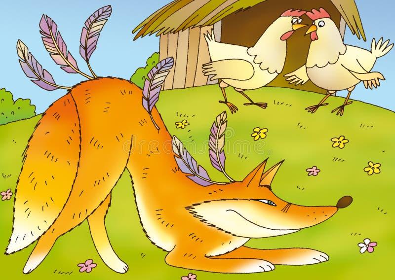 狡猾的狐狸 皇族释放例证