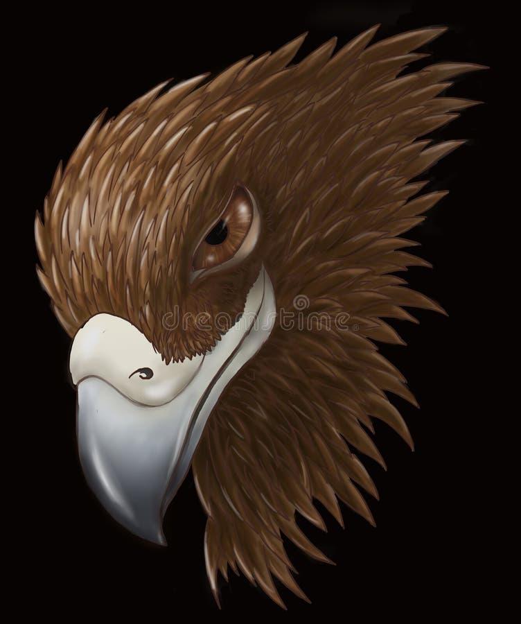 狡猾的老鹰 向量例证