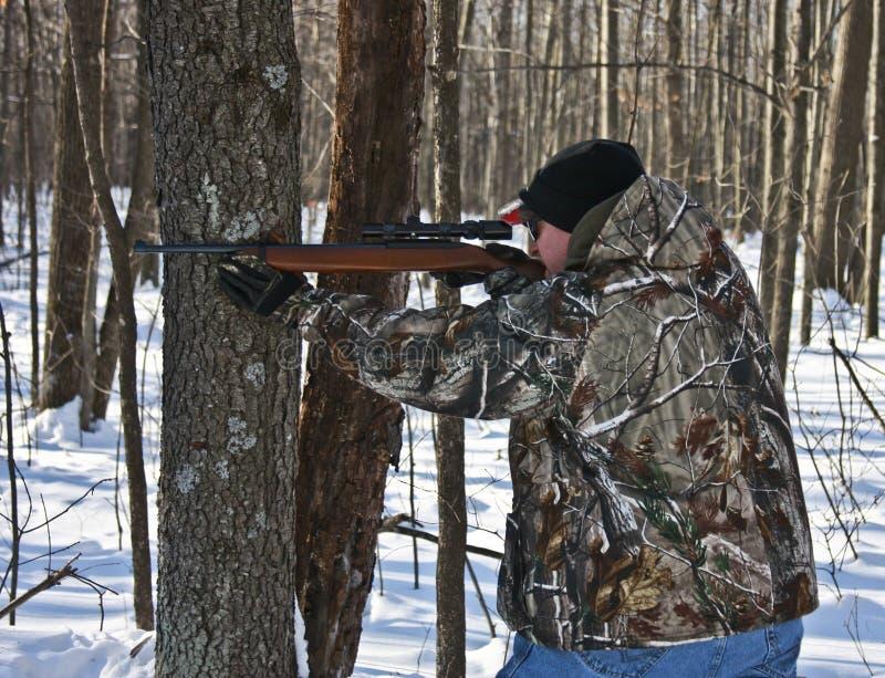 狩猎冬天 免版税库存照片